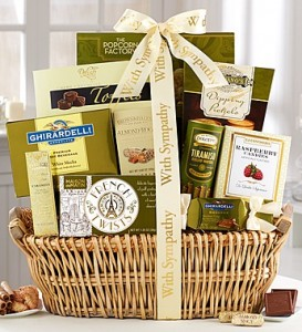 Sympathy Gift Baskets from 1800Baskets For example ...