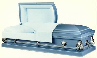 square cornered standard straight casket design