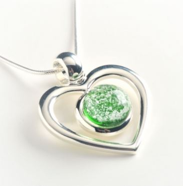 Eternal Love pendant from Grateful Glass