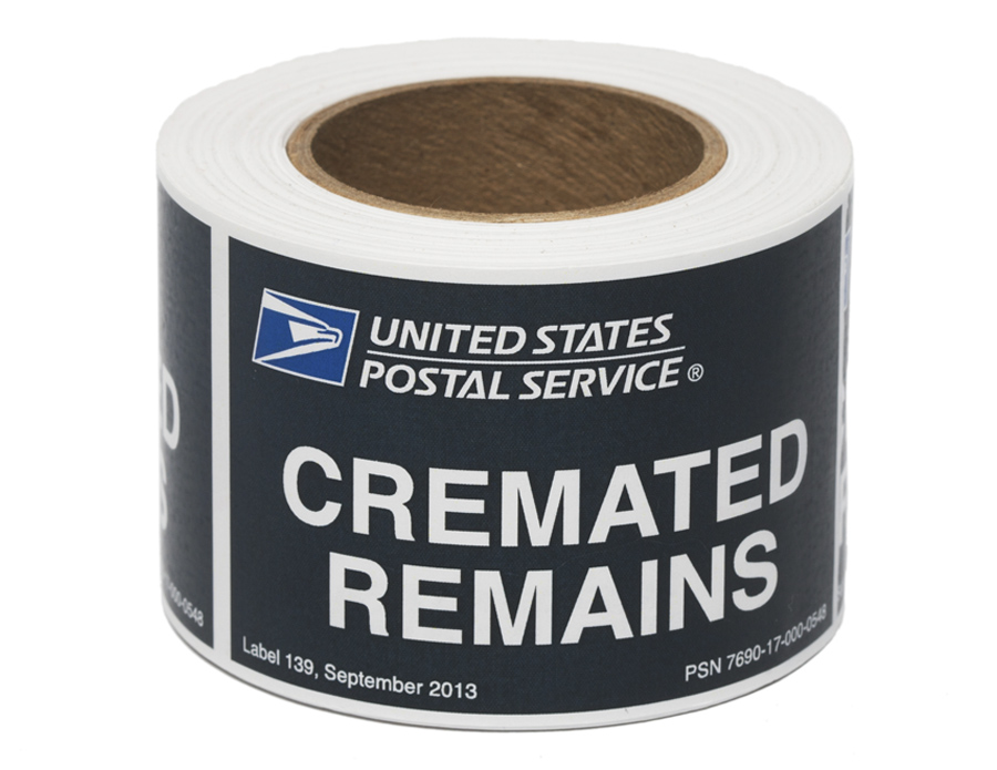 USPS Label for Mailing Cremated Remains
