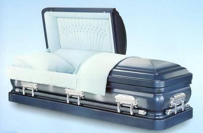 straight side round end casket