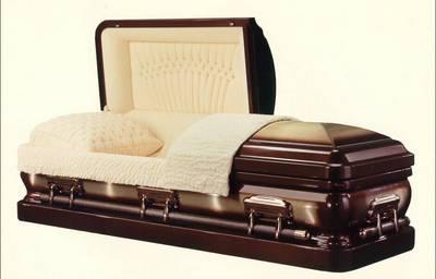 round cornered design casket