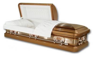 straight side round end casket design