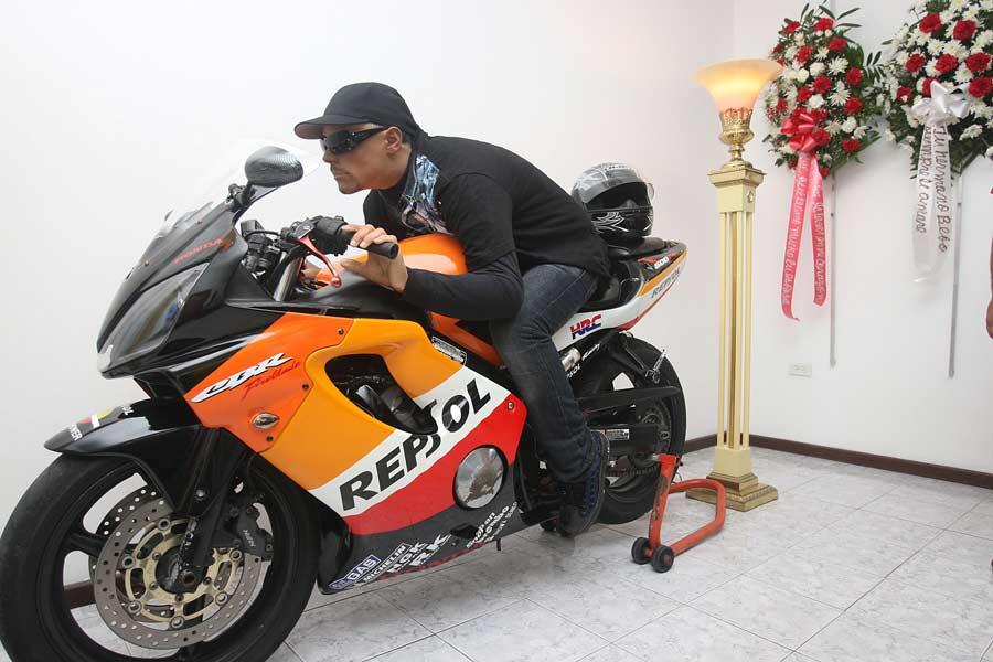 Embalmed Motorcyclist