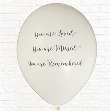 Biodegradable memorial and funeral ballon